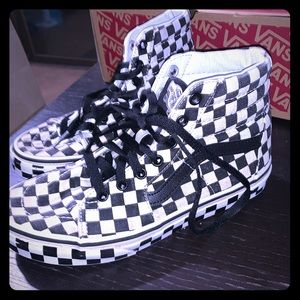 Vans Checkered Sk8-Hi High Tops